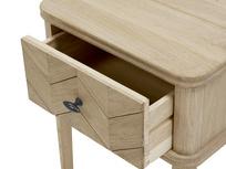 Little Flapper parquet style bedside table