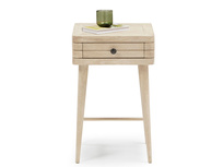 Little Groover bedside table in bleached oak