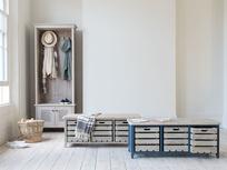 Wooden hallway storage range