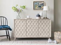 Grand Orinoco hexagonal patterned wood sideboard
