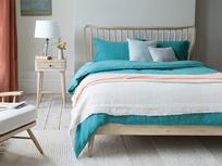 Spindle wooden slatted bed frame