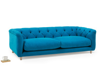 Boho high arm upholstered sofa