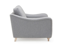 Bumpster curved arm deep seated love seat