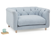 Boho button back love seat with high arms