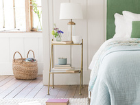 Scala antique brass bedside table