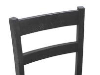 Idler wood kitchen chair back detail
