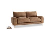 Small Strudel Sofa in Walnut beaten leather