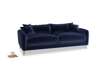 Medium Squishmeister Sofa in Midnight Plush Velvet