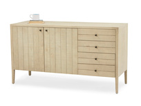 Grand Kanoodle bandsawn oak wood sideboard