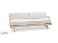 Kipster solid oak upholstered modern daybed