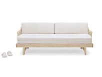 Kipster solid oak upholstered daybed