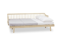 Kipster solid oak wooden daybed open