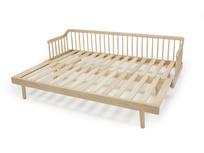 Kipster solid oak daybed frame detail