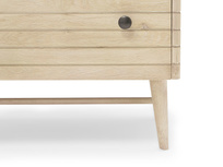 Little Bubba small wood shelving unit front detail