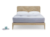Flappe oak wood bed