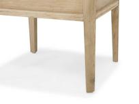Lippy dressing table oak stool leg detail