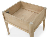 Lippy oak dressing table stool with hidden storage