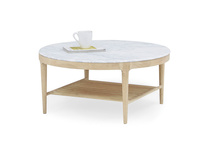 Marmo marble coffee table with oak wood