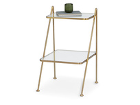 Scala antique brass style bedside table