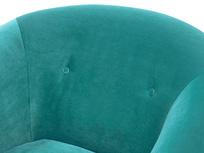 Schnaps tub armchair button back detail