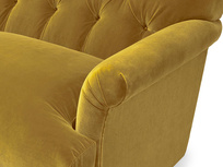 Truffle chesterfield sofa bed arm detail