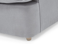 Slowcoach upholstered sofa bed corner leg detail