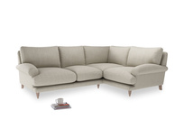 Large Right Hand Slowcoach Corner Sofa in Thatch house fabric