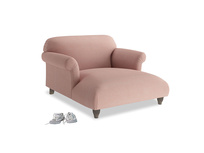 Love Seat Chaise Soufflé Love Seat Chaise in Tuscan Pink Clever Softie