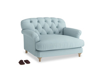 Truffle Love seat in Powder Blue Clever Softie