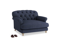 Truffle Love seat in Seriously Blue Clever Softie