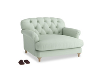 Truffle Love seat in Soft Green Clever Softie
