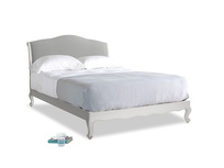 Kingsize Coco Bed in Scuffed Grey in Pewter Clever Softie