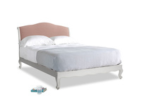 Kingsize Coco Bed in Scuffed Grey in Tuscan Pink Clever Softie