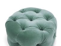 Gumdrop round footstool top detail
