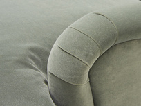 Pudding upholstereds sofa arm detail