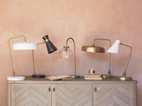 Brass desk lamp range