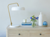 Biblio table lamp in White