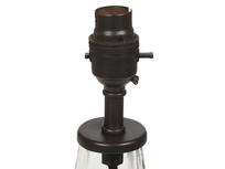 Flute glass table lamp detail