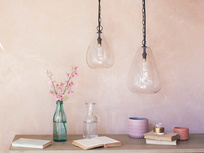 Raindrop glass pendant light range