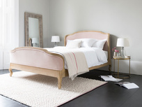 Joelle french upholstered wood bed