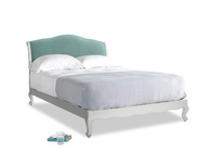 Kingsize Coco Bed in Scuffed Grey in Greeny Blue Clever Deep Velvet