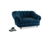 Bagsie Love Seat in Berlin Blue Clever Deep Velvet