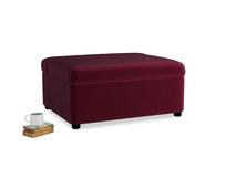 Single Bed in a Bun in Merlot Plush Velvet