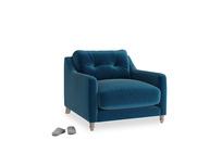 Slim Jim Armchair in Berlin Blue Clever Deep Velvet