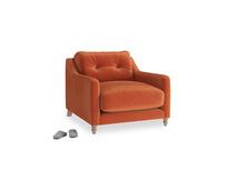 Slim Jim Armchair in Old Orange Clever Deep Velvet