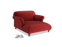 Love Seat Chaise Soufflé Love Seat Chaise in Rusted Ruby Vintage Velvet