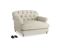 Truffle Love seat in Shell Clever Laundered Linen