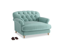 Truffle Love seat in Greeny Blue Clever Deep Velvet
