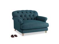 Truffle Love seat in Harbour Blue Vintage Linen