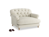 Truffle Love seat in Stone Vintage Linen